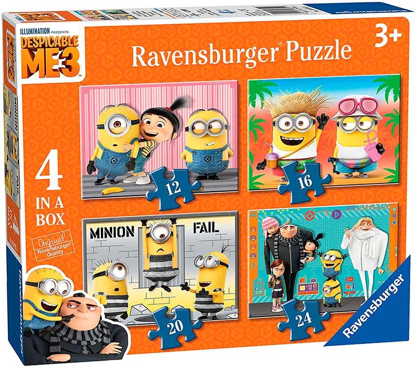 Puzzle Ravensburger Minions 3 Progresivo de 12+16+20+24 Piezas
