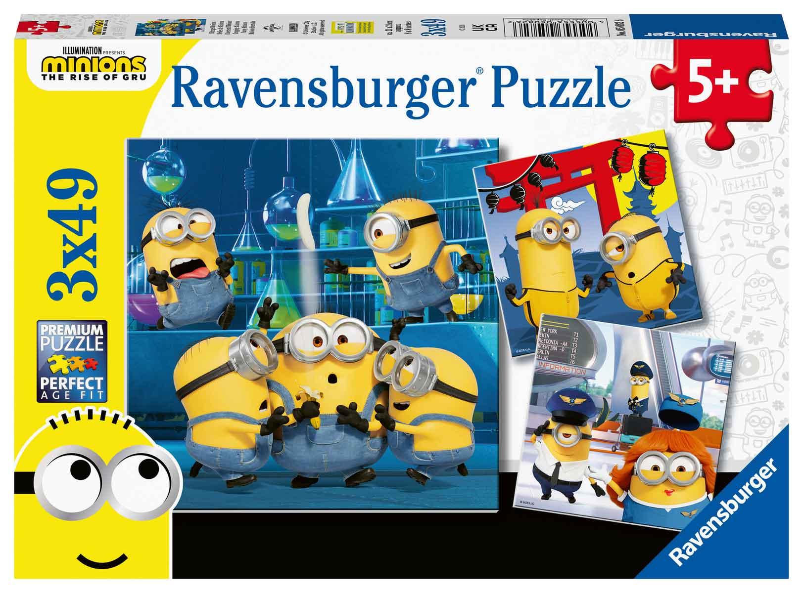 Puzzle Ravensburger Minions Divertidos de 3x49 Piezas