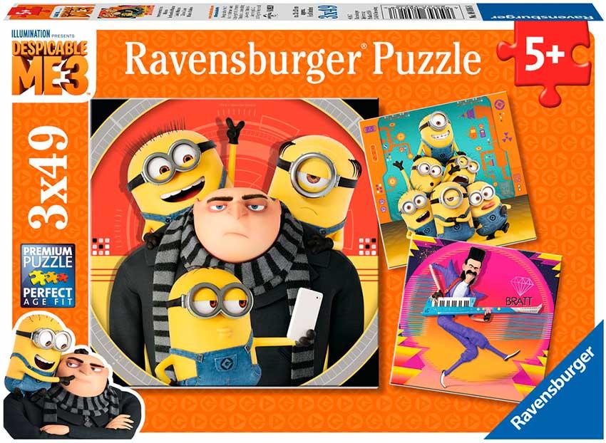 Puzzle Ravensburger Gru Mi Villano Favorito 3 de 3 x 49 Piezas