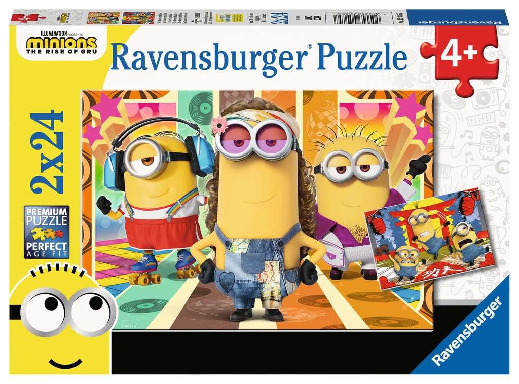 Puzzle Ravensburger Minions Secuaces de 2x24 Piezas