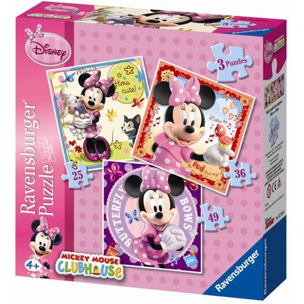 Puzzle Ravensburger Minnie Mouse ProgresivoProgresivo 25+36+49