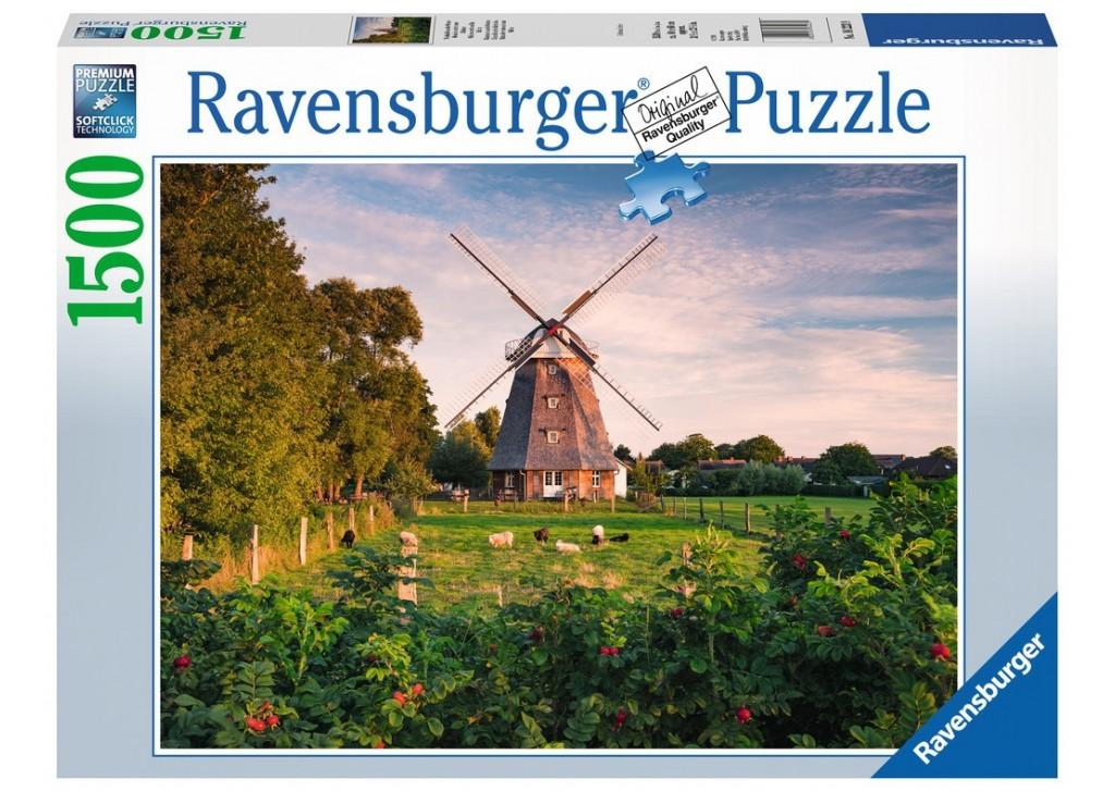 Puzzle Ravensburger Molino de Viento en el Mar Báltico de 1500 P