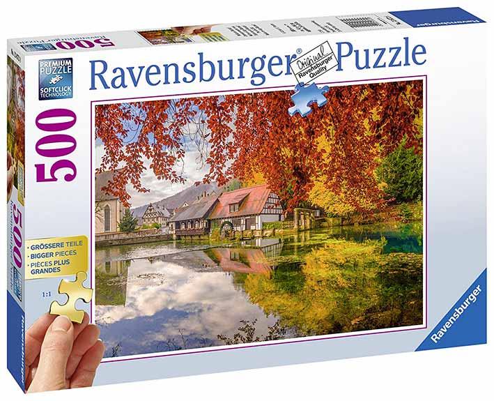Puzzle Ravensburger Molino del Lago Blauptof de 500 Piezas