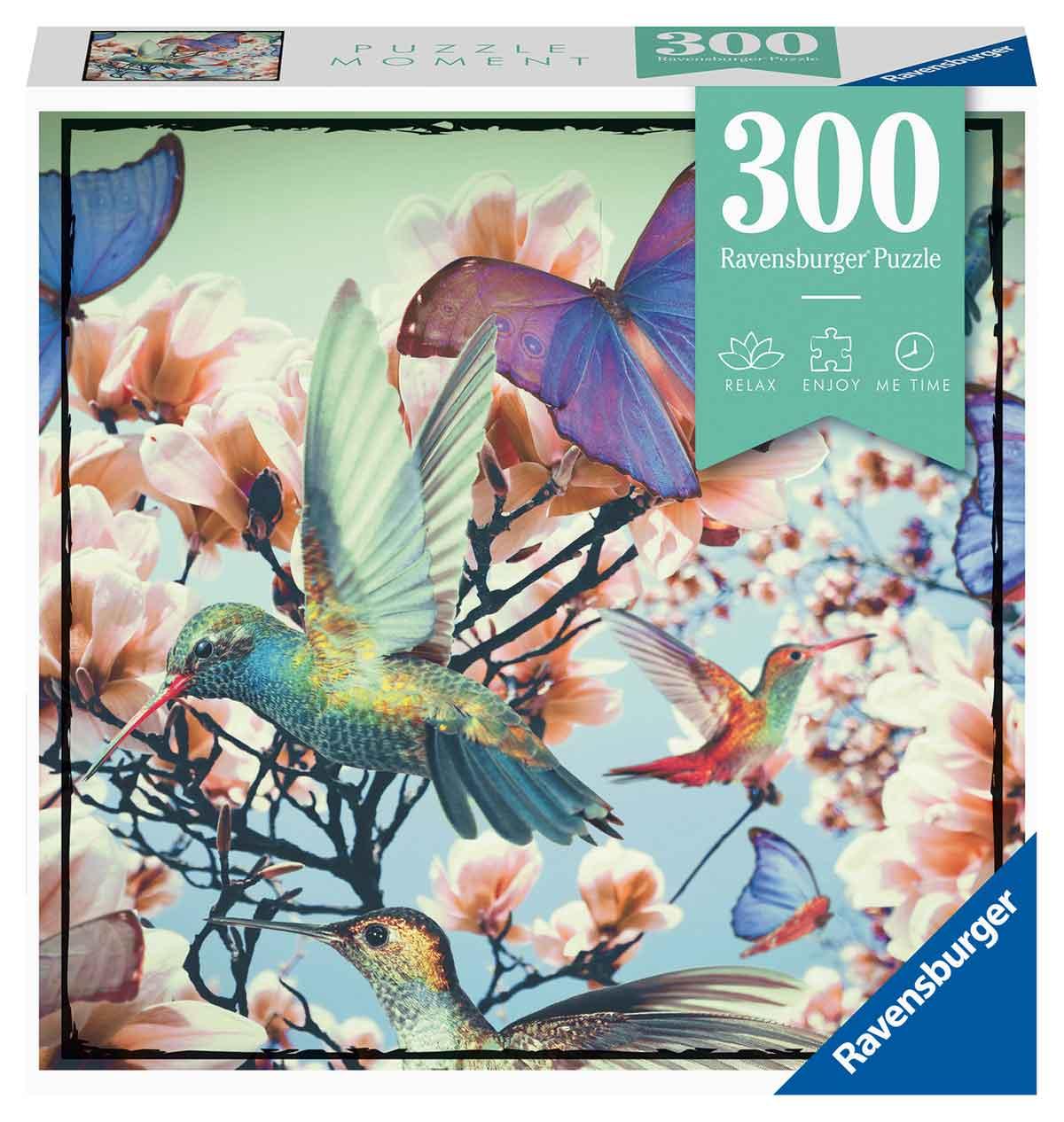 Puzzle Ravensburger Moment Colibrí y Mariposa de 300 Piezas