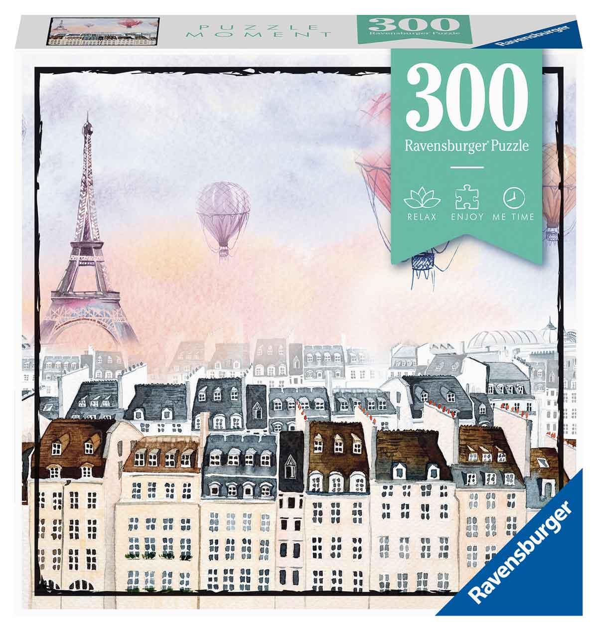 Puzzle Ravensburger Moment Globos Sobre París de 300 Piezas