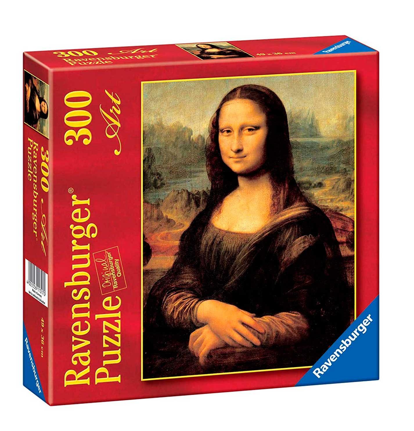 Puzzle Ravensburger Mona Lisa, de Da Vinci de 300 Piezas
