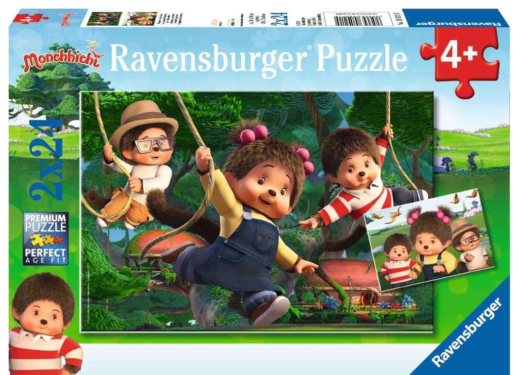 Puzzle Ravensburger Monchhichi Compañeros de Aventuras  2x24 Pzs