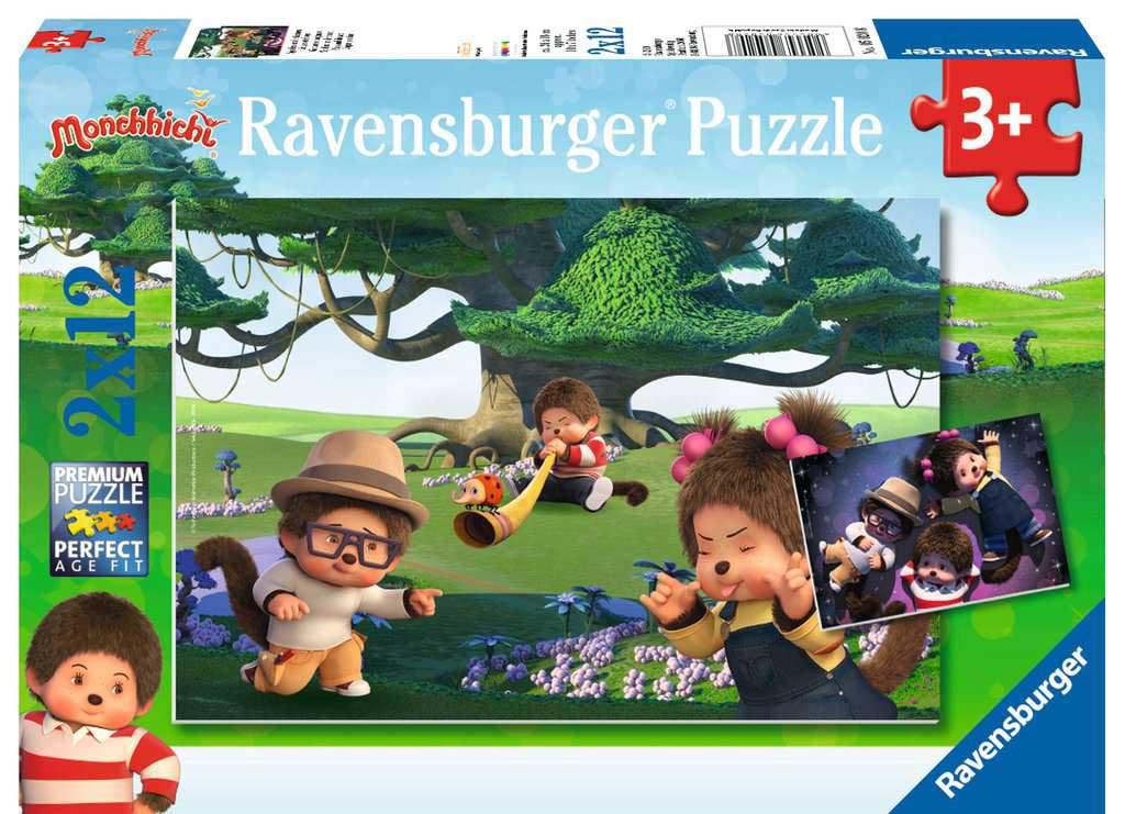 Puzzle Ravensburger Monchhichi Jugar y Soñar de 2x12 Pzs