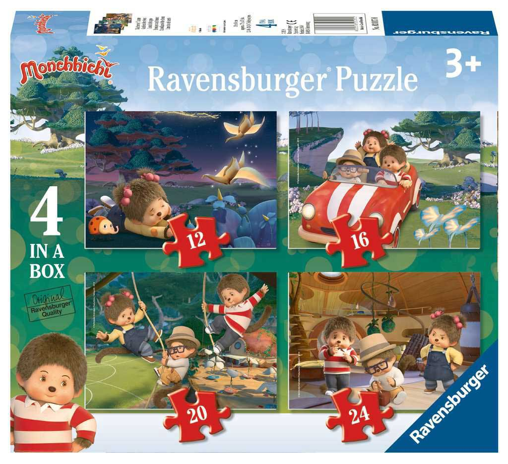 Puzzle Ravensburger Monchhichi Progresivo, de 12+16+20+24