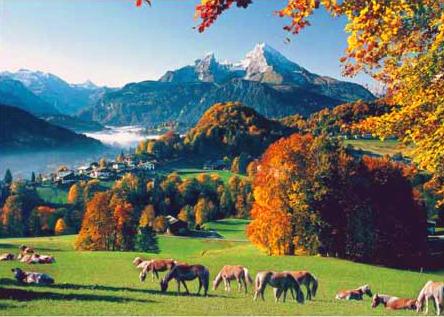 Puzzle Ravensburger Montaña Valle de Watzmann de 1000 Piezas