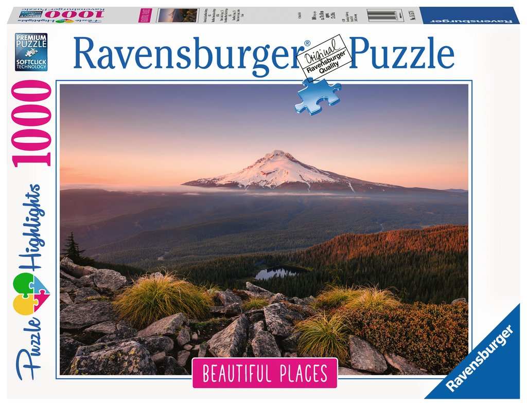 Puzzle Ravensburger Monte Hood, Oregon, EEUU de 1000 Piezas