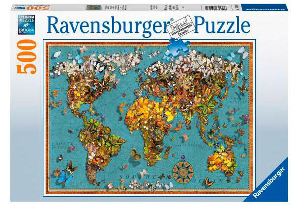 Puzzle Ravensburger Mundo de las Mariposas de 500 Piezas