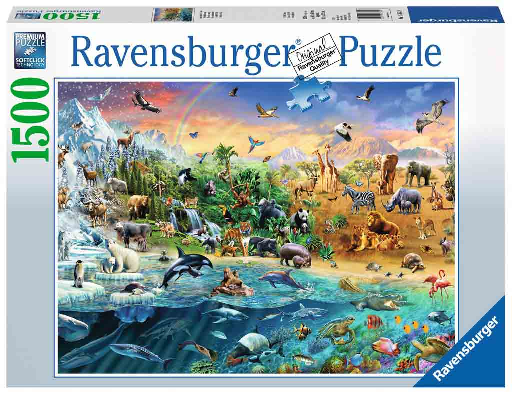 Puzzle Ravensburger Mundo Salvaje de 1500 Piezas