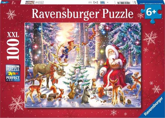 Puzzle Ravensburger Navidad en el Bosque XXL de 100 Piezas