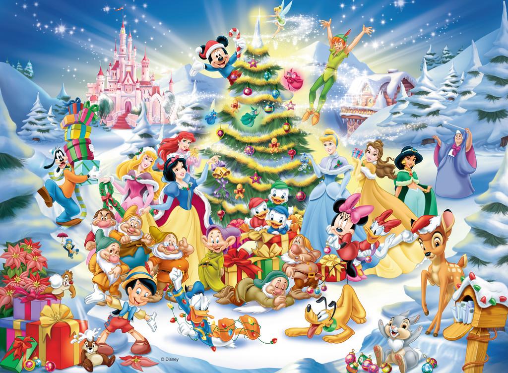 Puzzle Ravensburger Navidades Disney de 100 Piezas