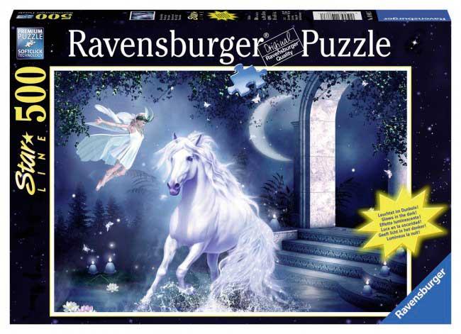 Puzzle Ravensburger Noche Mística Fosforescente de 500