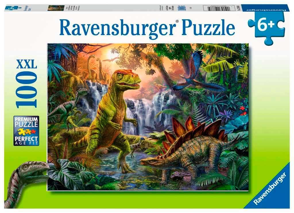 Puzzle Ravensburger Oasis de Dinosaurios XXL de 100 Piezas