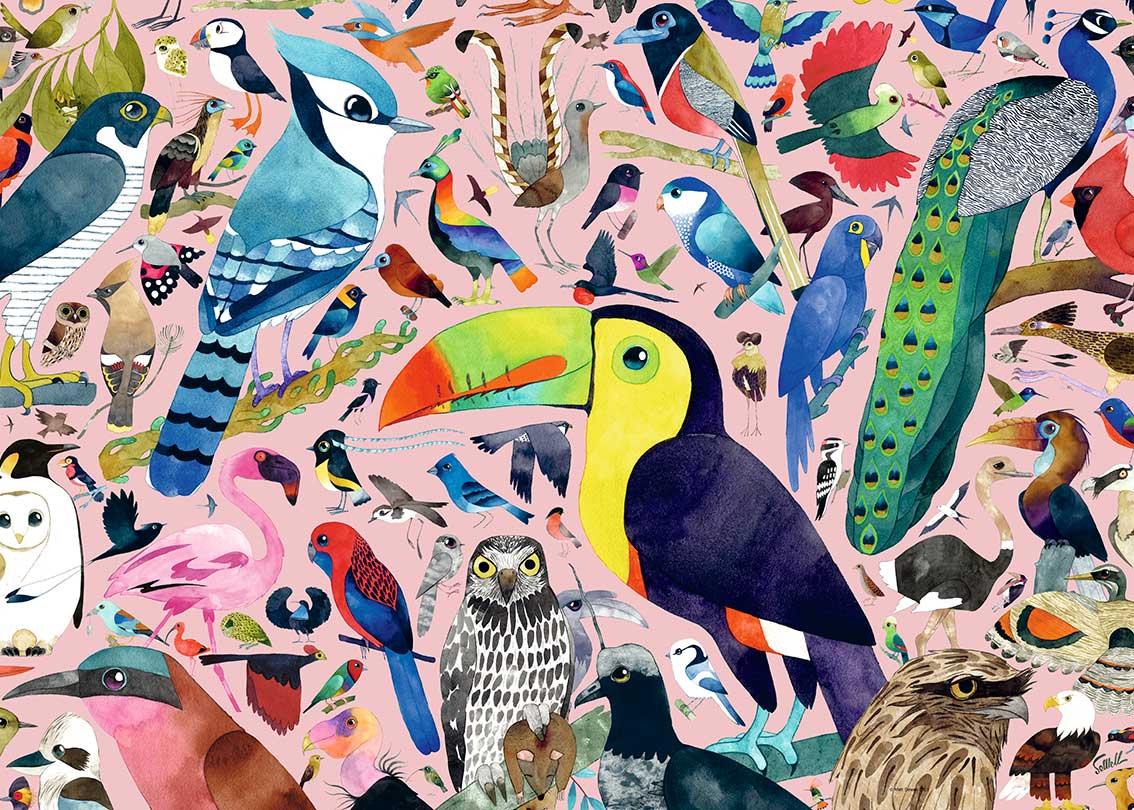 Puzzle Ravensburger Pájaros Increíbles de 1000 Piezas