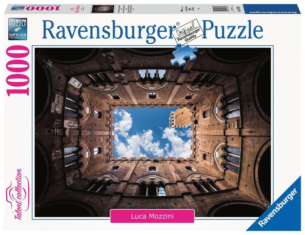 Puzzle Ravensburger Palacio Cortile del Podestá, Siena de 1000 P