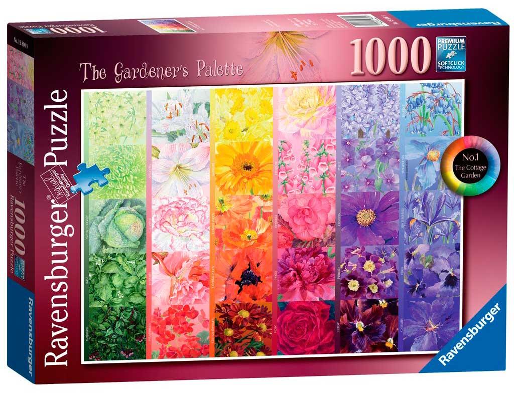 Puzzle Ravensburger Paleta del Jardinero de 1000 Piezas