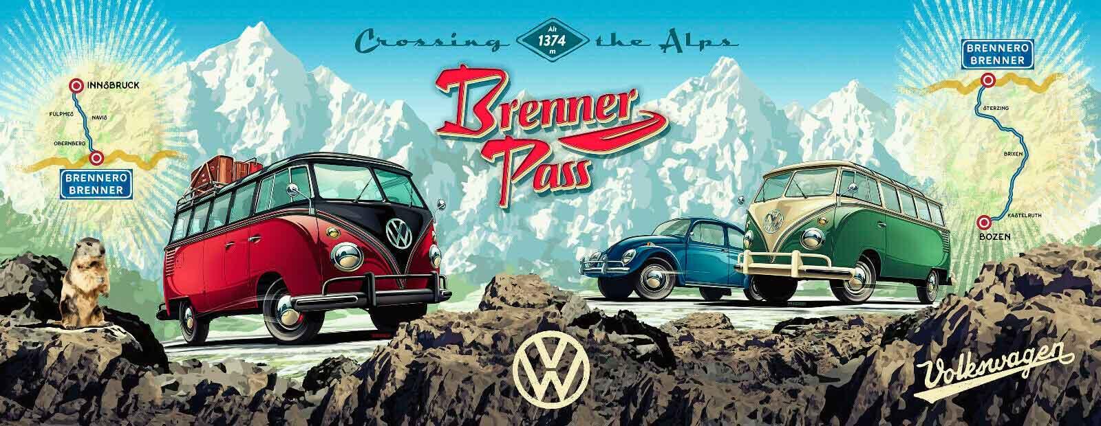 Puzzle Ravensburger Panorama Camper VW de 1000 Piezas
