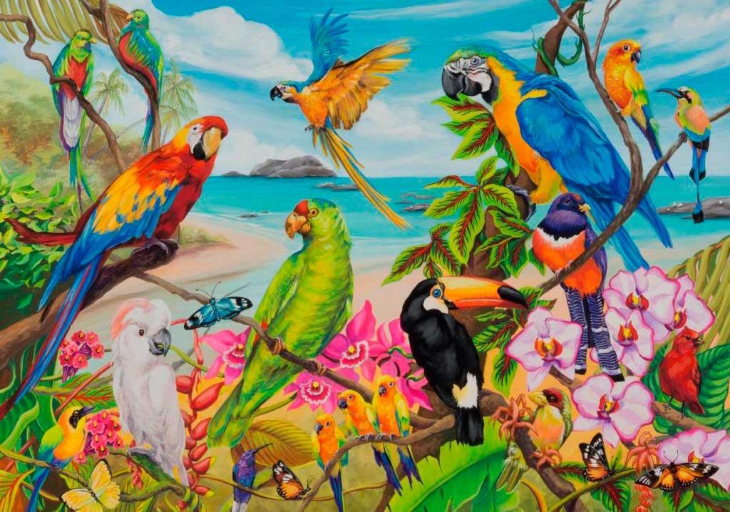 Puzzle Ravensburger Papagayos de Colores de 1000 Piezas