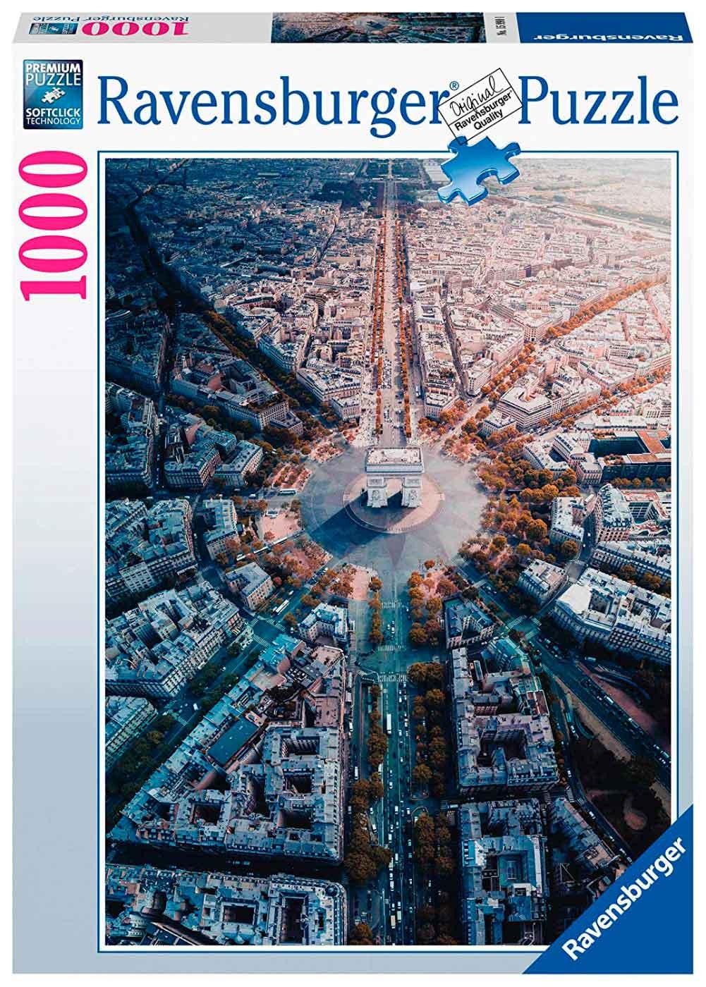 Puzzle Ravensburger París desde Arriba de 1000 Piezas