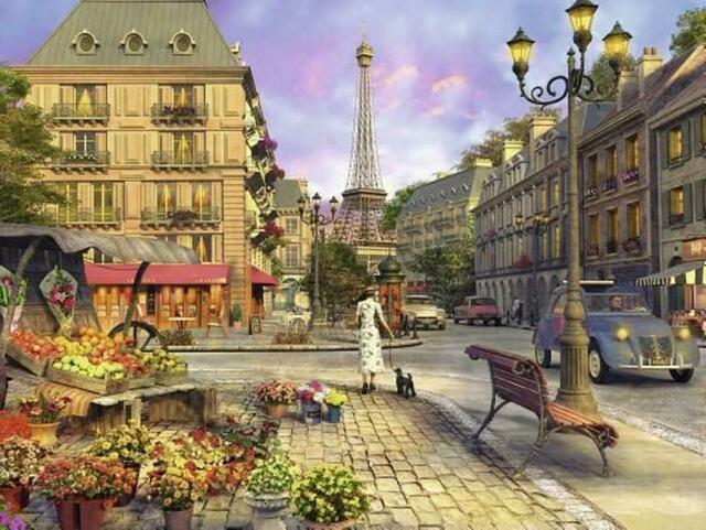Puzzle Ravensburger Paris Vintage de 1500 Piezas