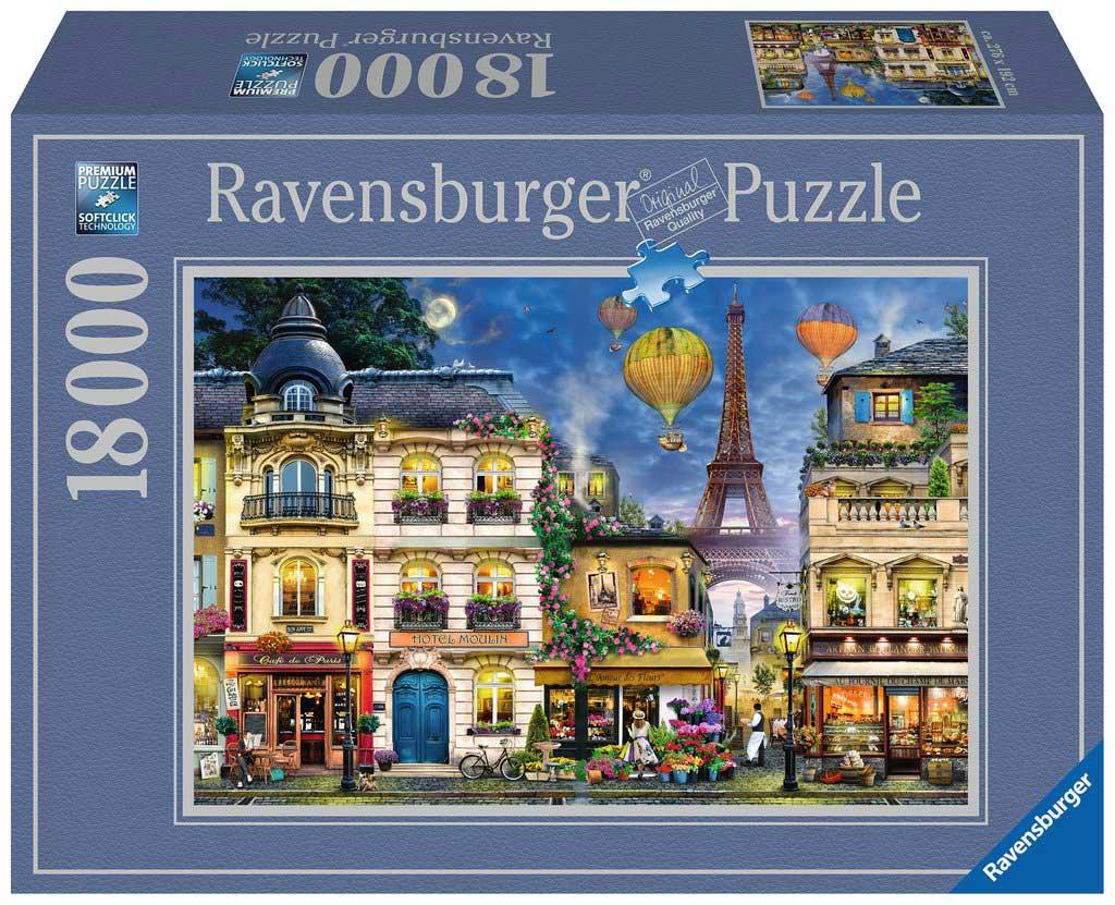 Puzzle Ravensburger Paseo Nocturno por París de 18000 Piezas