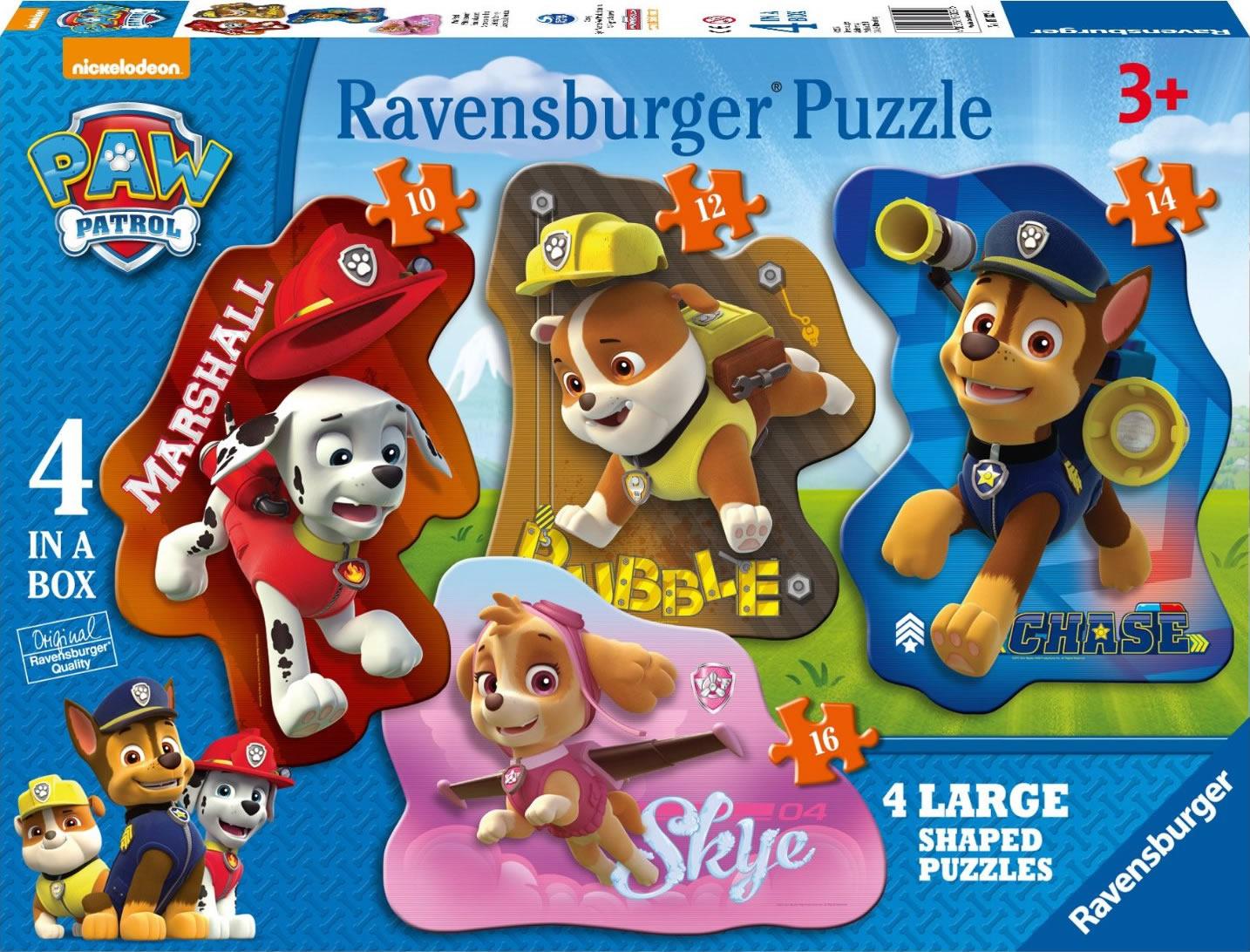 Puzzle Ravensburger Patrulla Canina  10+12+14+16 Piezas