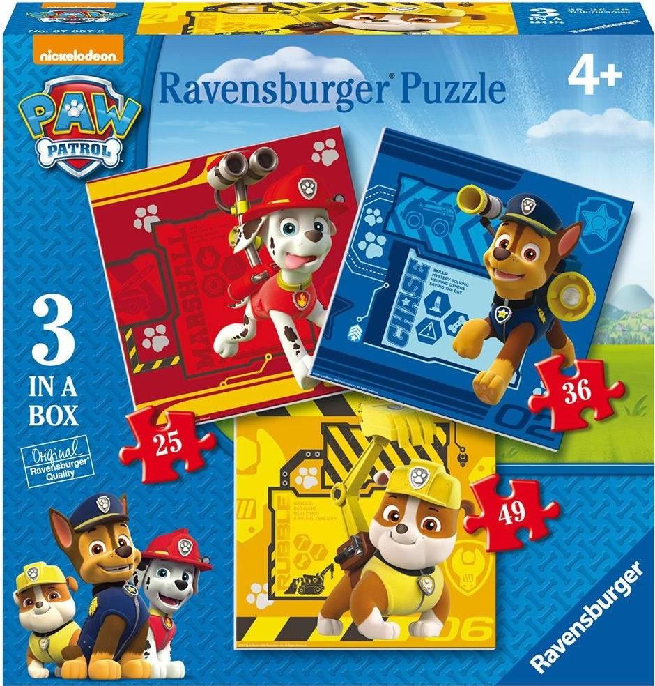 Puzzle Ravensburger Patrulla Canina  25+36+49 Piezas