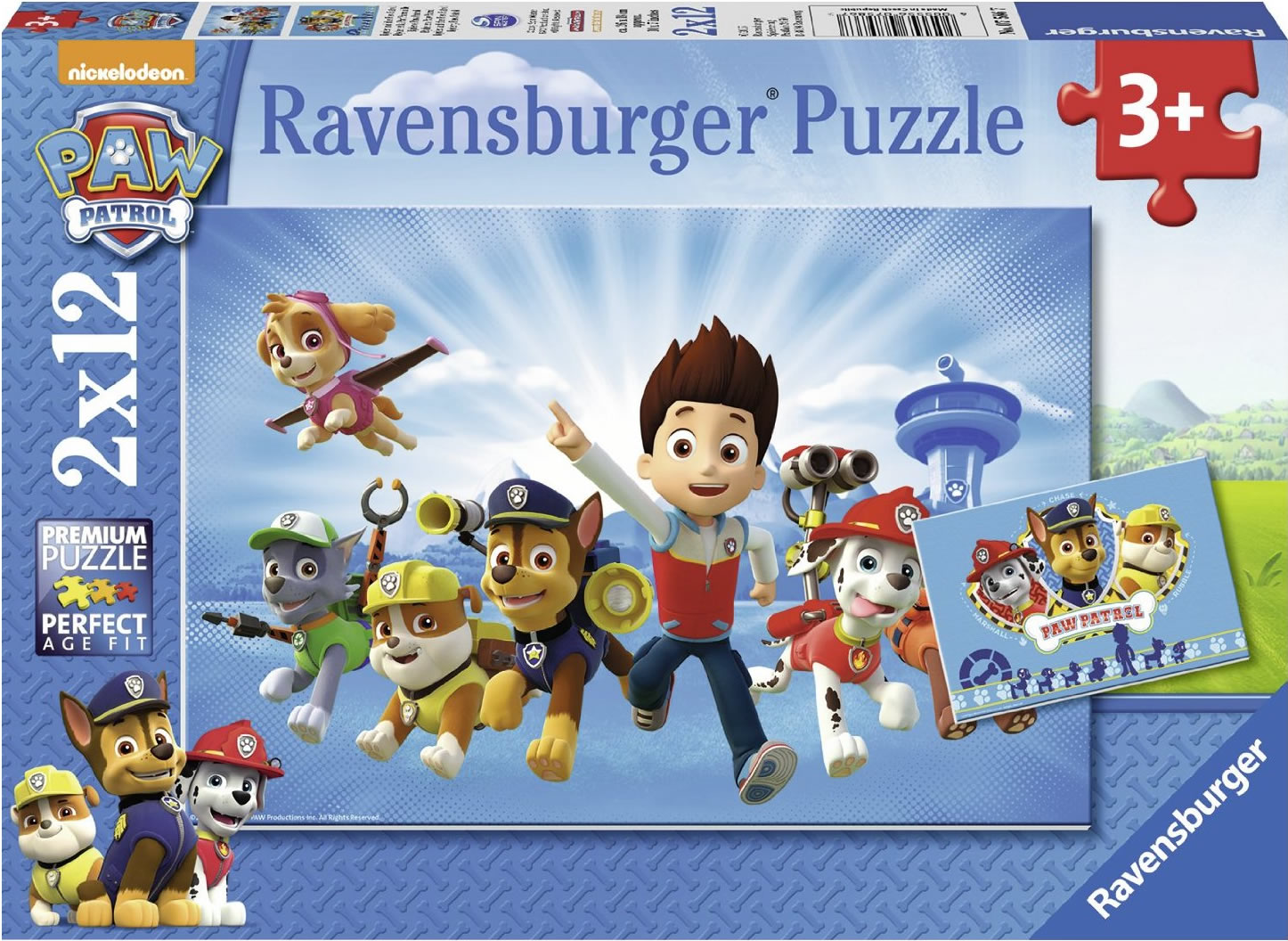 Puzzle Ravensburger Patrulla Canina  2x12 Piezas