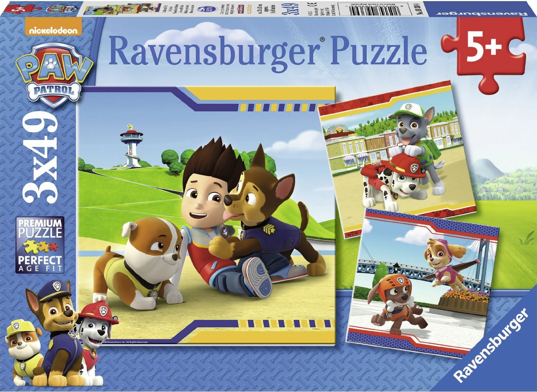 Puzzle Ravensburger Patrulla Canina 3 x 49 Piezas