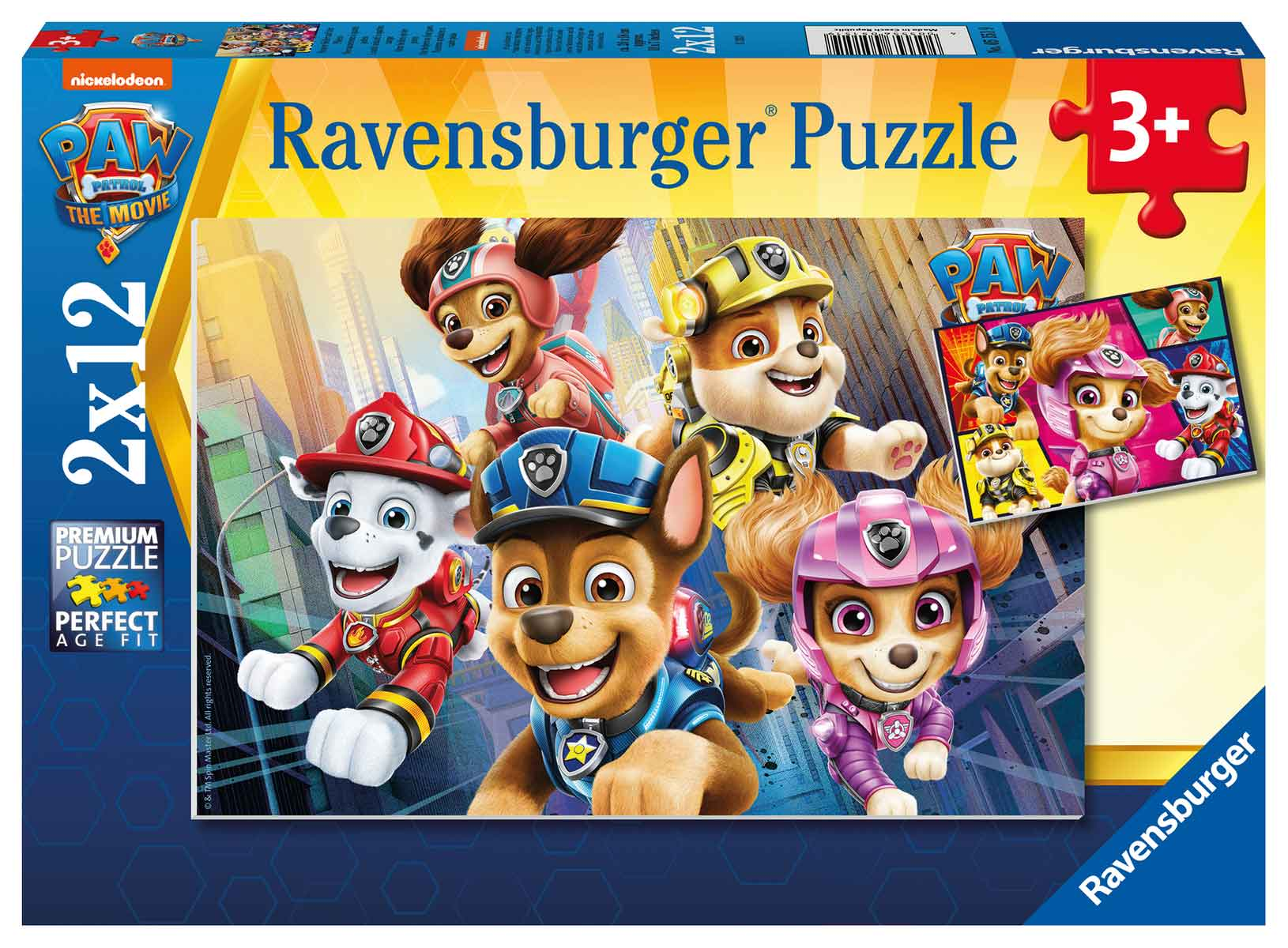 Puzzle Ravensburger Patrulla Canina de 2x12 Piezas