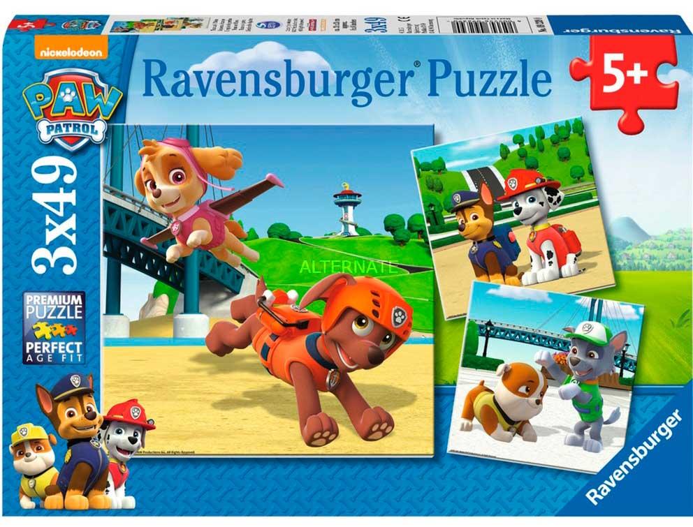 Puzzle Ravensburger Patrulla Canina, de 3x49 Piezas