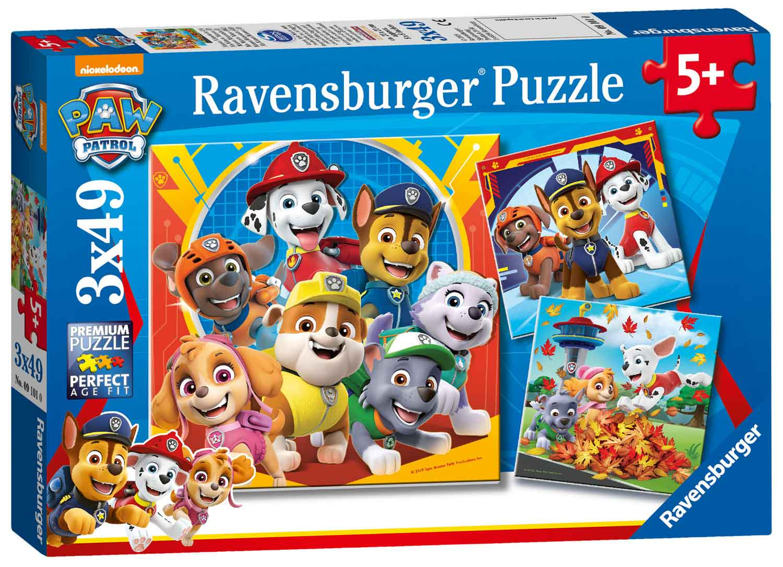 Puzzle Ravensburger Patrulla Canina de 3x49 Piezas
