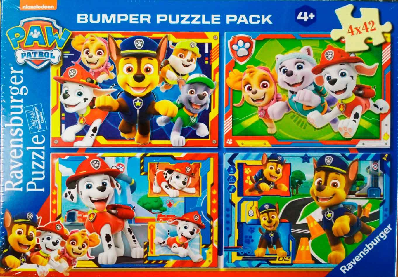 Puzzle Ravensburger Patrulla Canina de 4x42 Pzs