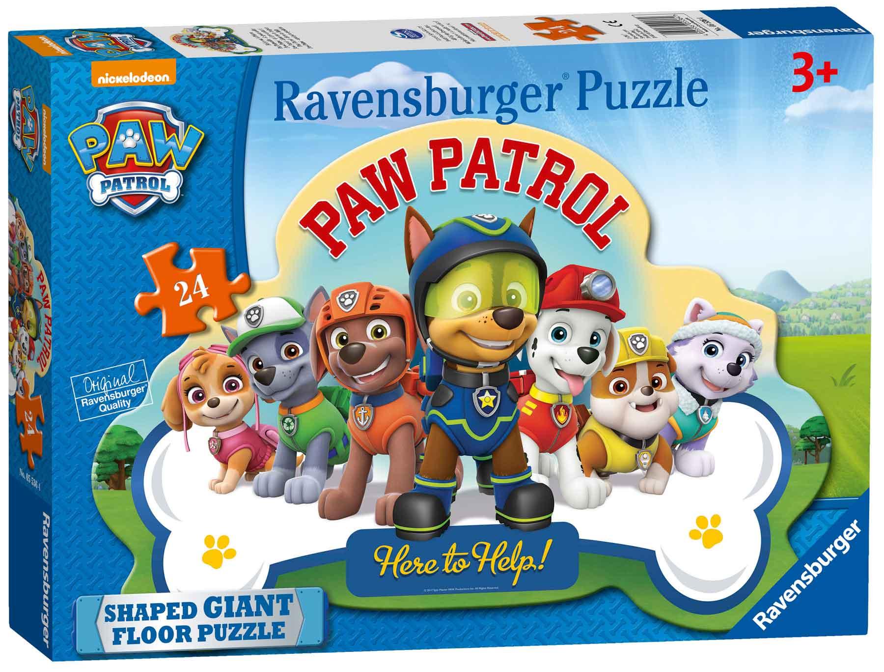 Puzzle Ravensburger Patrulla Canina, de Suelo de 24 Piezas