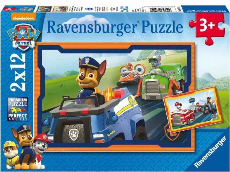 Puzzle Ravensburger Patrulla Canina, Paw Patrol  2x12 Piezas
