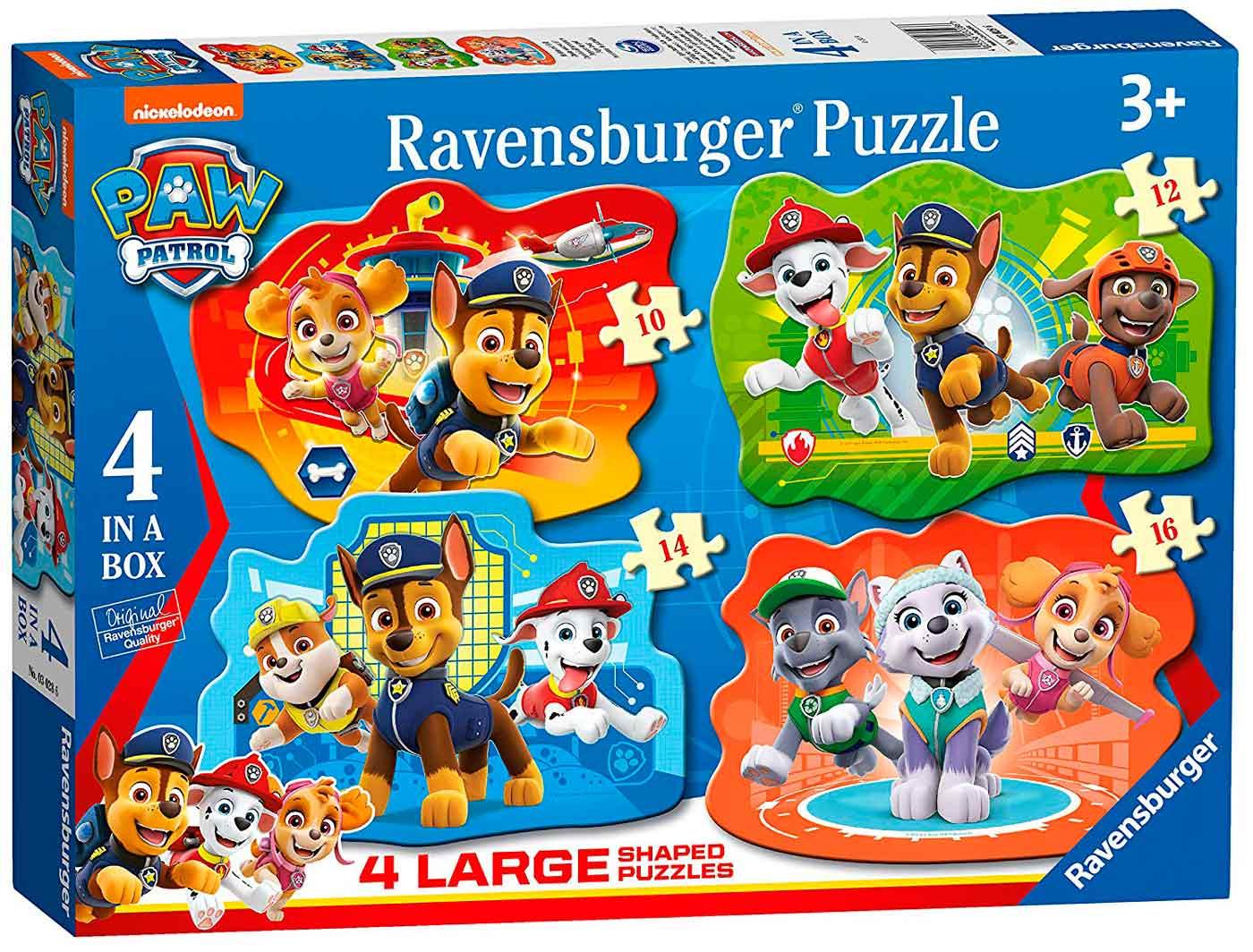 Puzzle Ravensburger Patrulla Canina Progresivo de 10+12+14+16 Pz