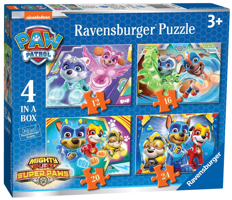 Puzzle Ravensburger Patrulla Canina Progresivo de 12+16+20+24 Pz