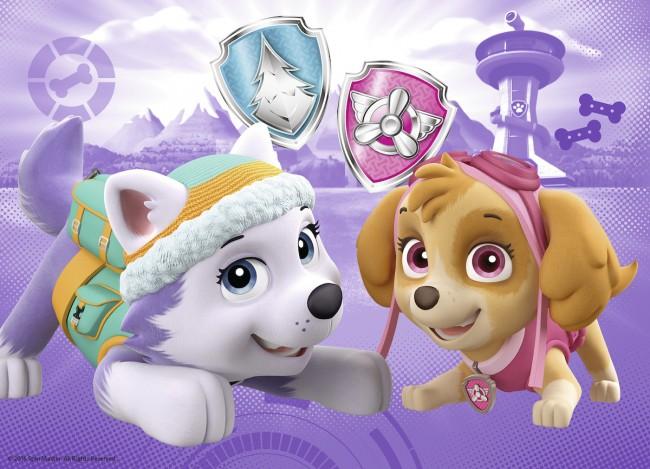 Puzzle Ravensburger Patrulla Canina Skye y Everest 4 x 42 Piezas