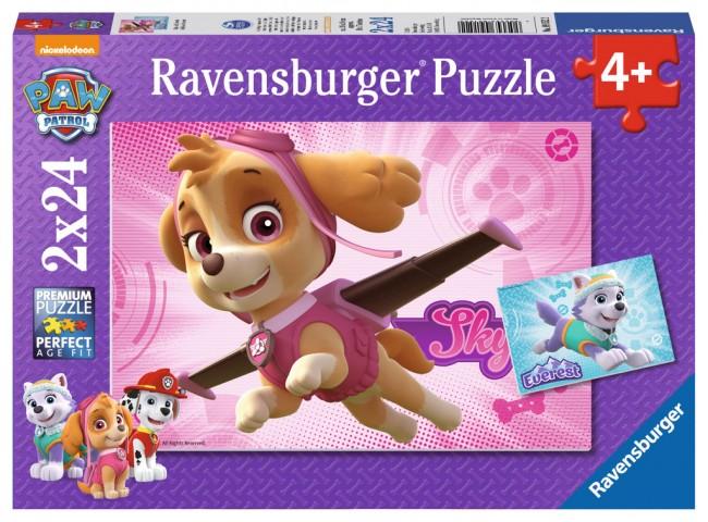 Puzzle Ravensburger Patrulla Canina Skye y Everest 2 x 24 Piezas