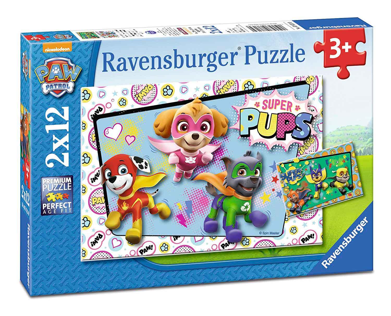 Puzzle Ravensburger Patrulla Canina Super Pups 2x12 Pzs