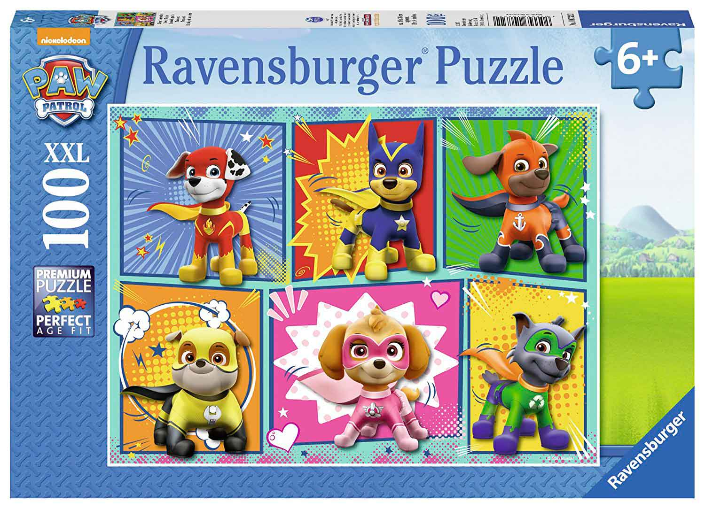 Puzzle Ravensburger Patrulla Canina Superhéroes XXL de 100 Pieza