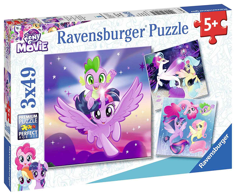 Puzzle Ravensburger My Little Pony, La Película 3 x 49 Piezas