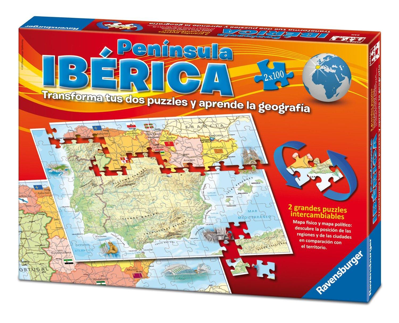 Puzzle Ravensburger Penísula Ibérica 2 x 100 Piezas