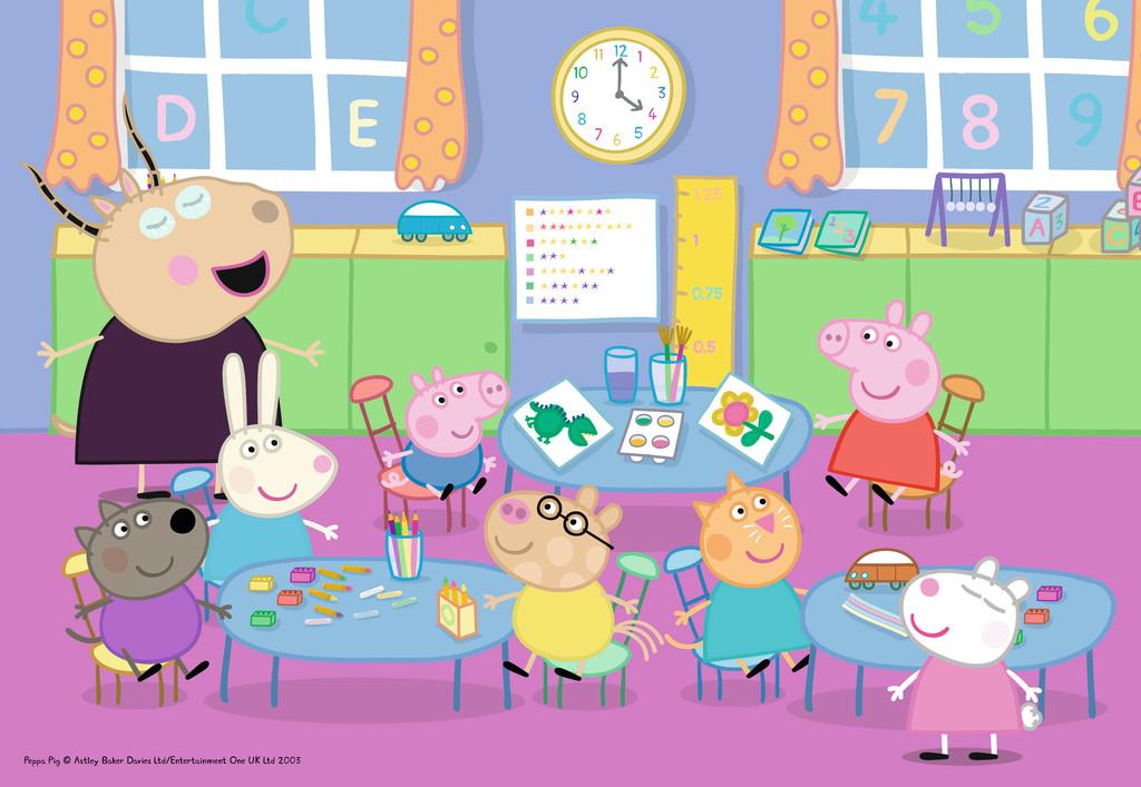 Puzzle Ravensburger Peppa Pig Diversión en el Aula de 35 Pzs