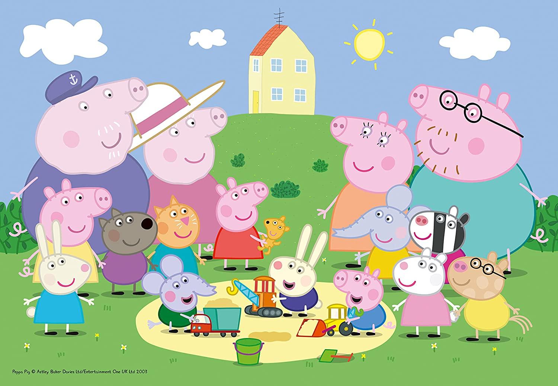 Puzzle Ravensburger Peppa Pig Familia y Amigos de 35 Pzs