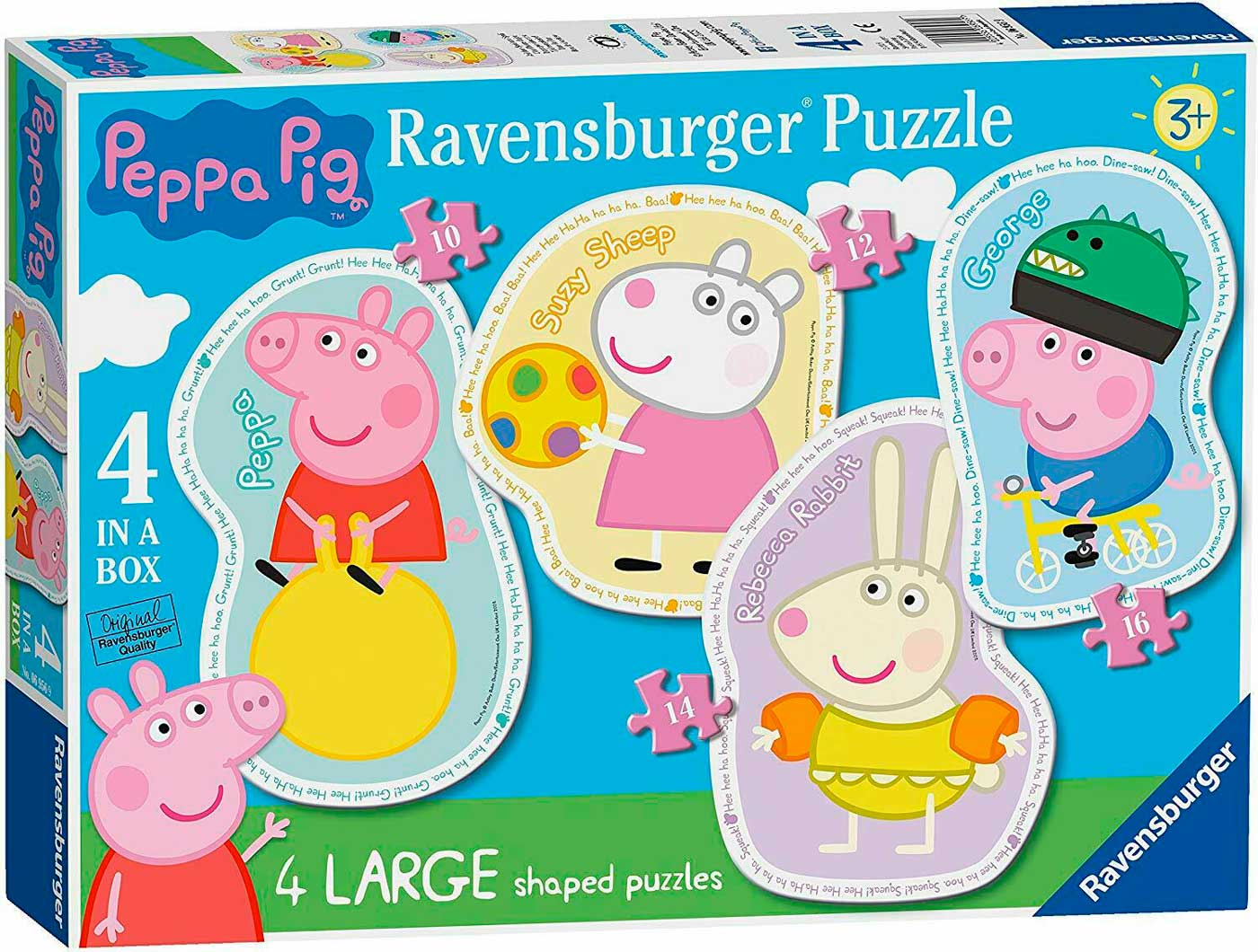 Puzzle Ravensburger Peppa Pig Progresivo de 10+12+14+16 Pzs